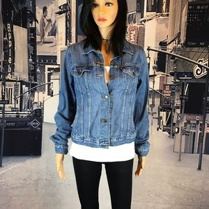 Levi's Denim jean jacket button front size Large